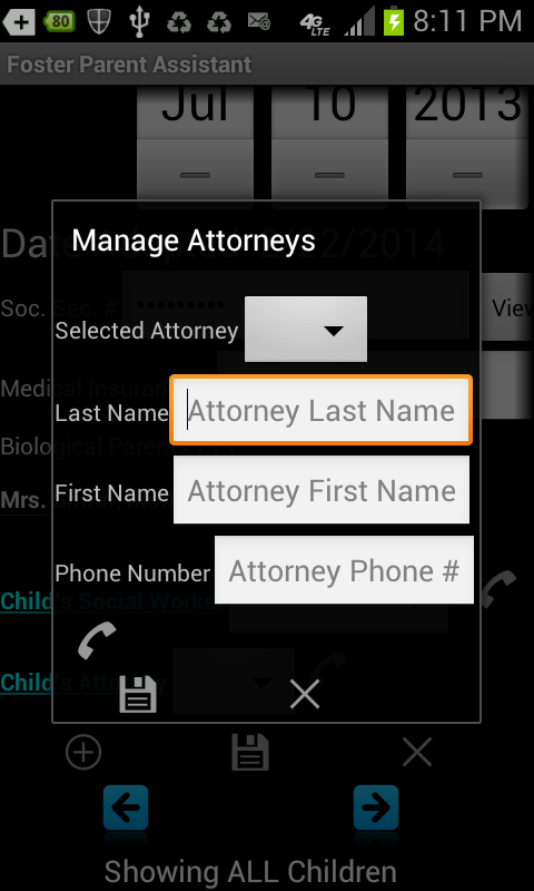 Foster Parent Assistant - screenshot