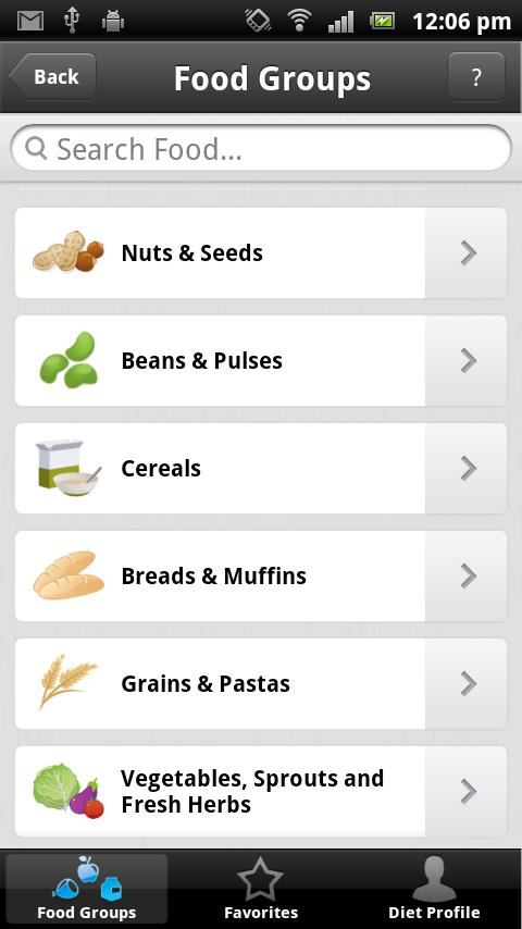 Blood Type Diet - iBTD - screenshot