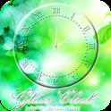 透過ガラスアナログ時計ウィジェット