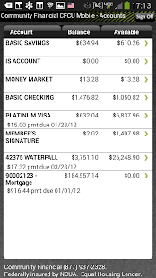 Community Financial Mobile - screenshot thumbnail