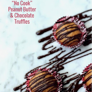 Low Carb Peanut Butter & Chocolate Truffles.