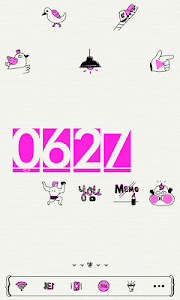 Neon Pink Drawing Dodol Theme screenshot 1