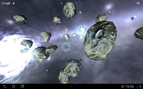 Asteroids 3d Wallpaper