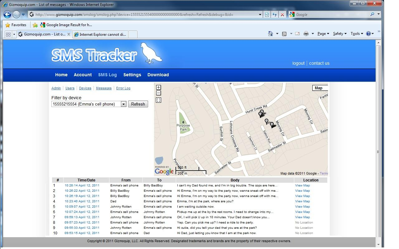 SMS Tracker Plus - screenshot