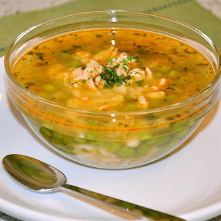 Hungarian Pea Soup with Nokedli