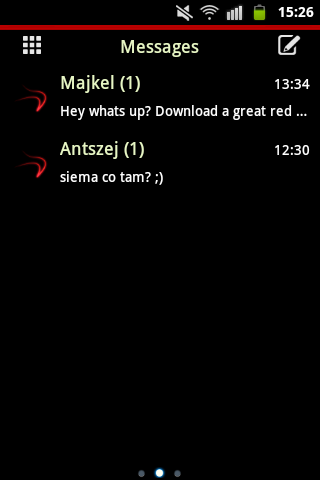 GO SMS Theme Red Neon Buy