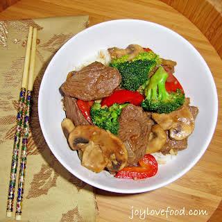 Beef & Broccoli in Black Bean Garlic Sauce.