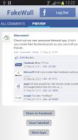 Screenshot of FakeWall
