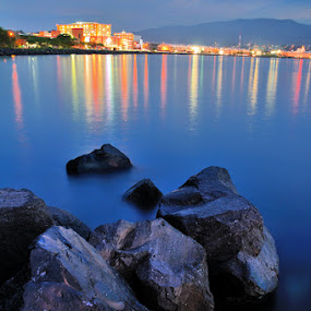 Town and Stone by Christof Mahengkeng - Landscapes Beaches