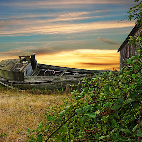 Decay by Sunny Zheng - Buildings & Architecture Decaying & Abandoned ( blaine, washington, cannery, decayed boat, semiahmoo spit, decayed building, usa, semiahmoo resort )