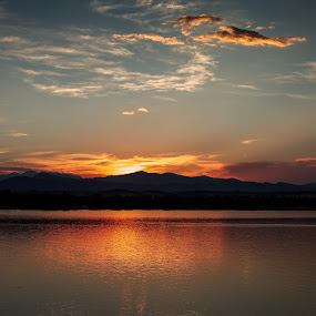 Lake Loveland Sunset by David Andrus - Landscapes Mountains & Hills ( lake loveland, colorado, front range, rocky mountain national park, loveland )