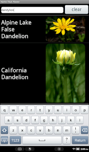 Name That Flower - screenshot thumbnail