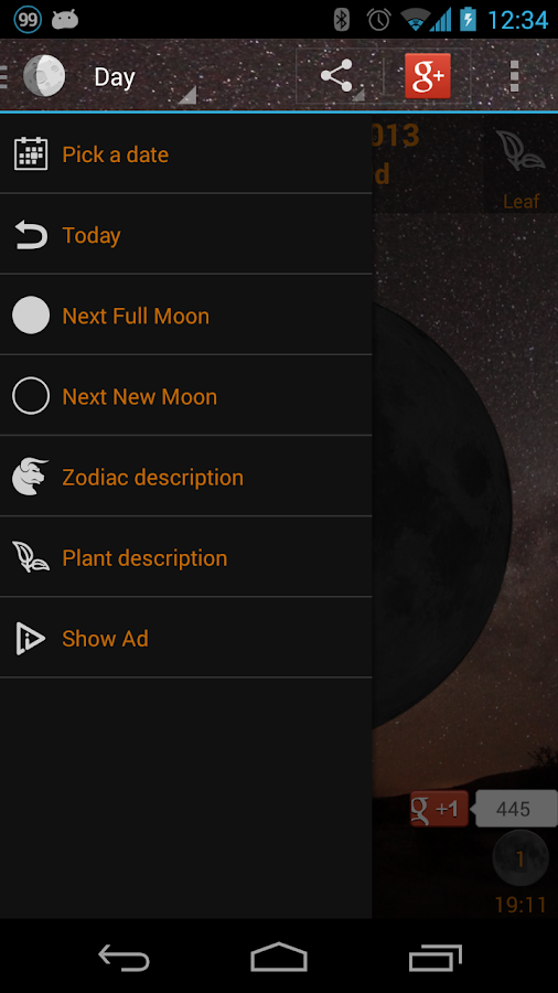 Moon Phase Widget - screenshot
