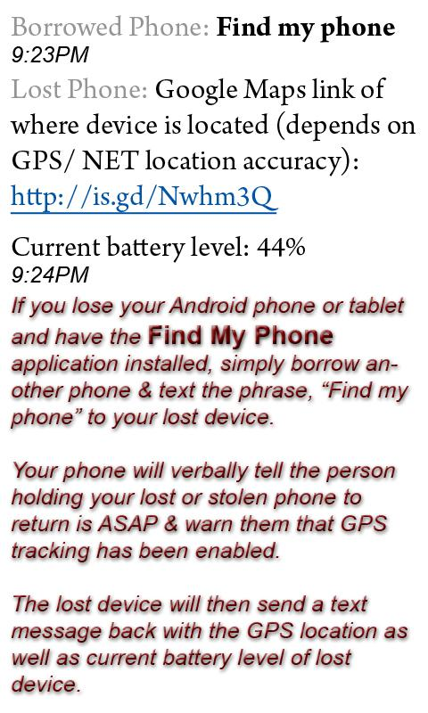 ★ Find My Phone ★ - screenshot