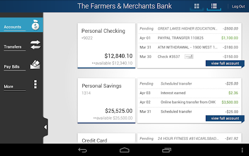 The Farmers & Merchants Bank - screenshot thumbnail