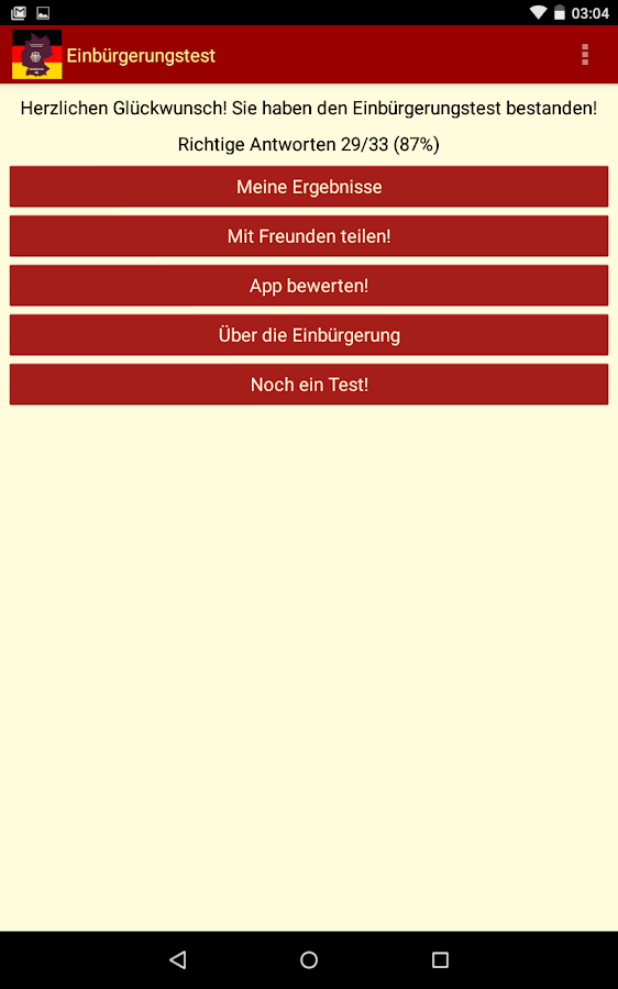 Einbürgerungstest 2016- screenshot