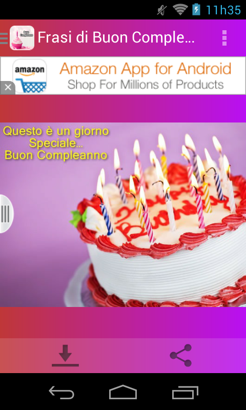 Bien connu Frasi di Buon Compleanno - Android Apps on Google Play UQ77