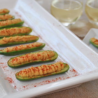 Cucumber Boats with Spicy Hummus Recipe