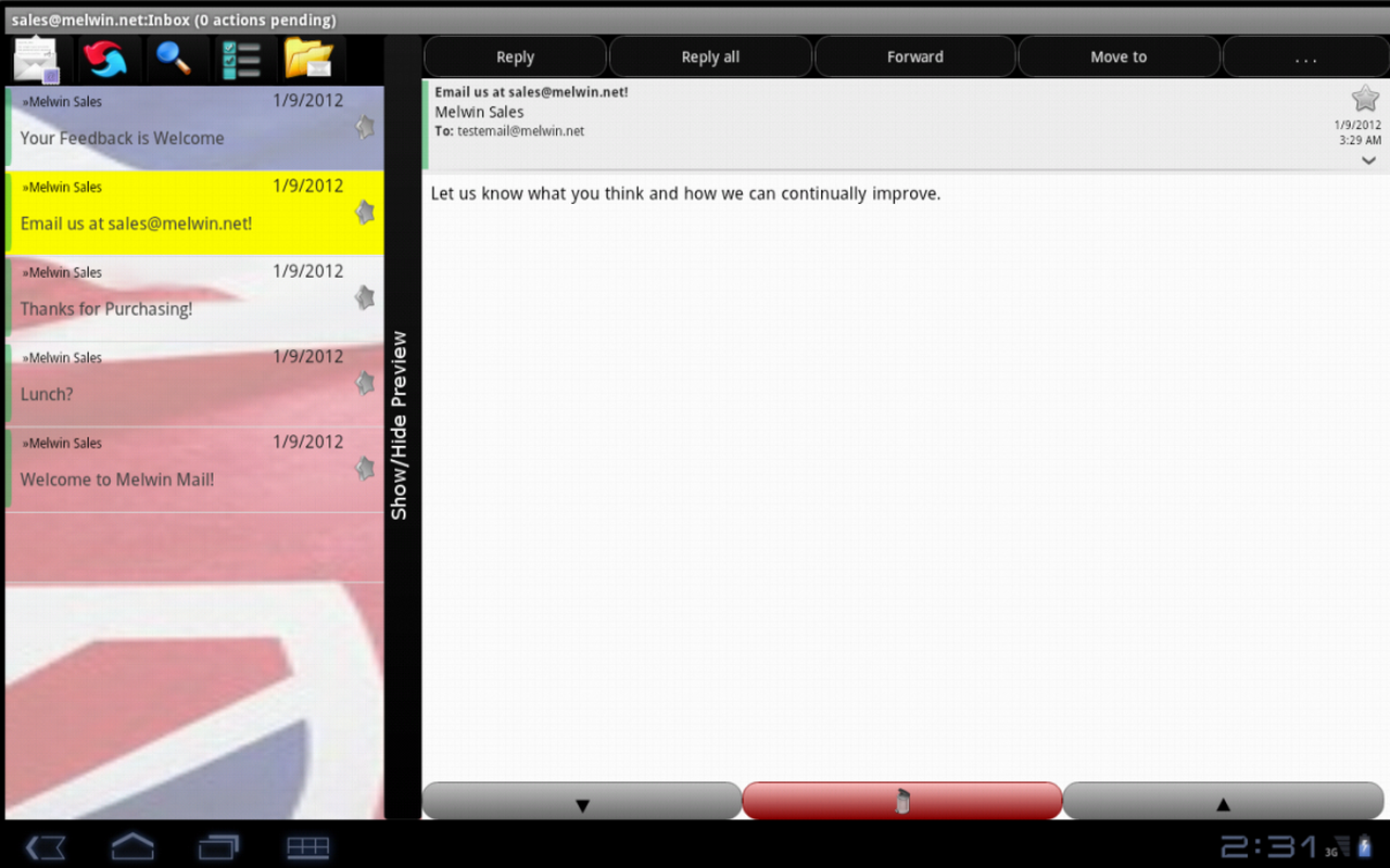 Melwin Mail - Email Client - screenshot