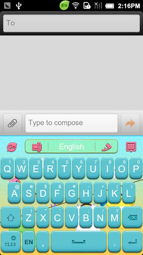 GO Keyboard Sunshine theme