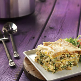 Cheesy Kale & Squash White Lasagna