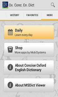Concise Oxford English - screenshot thumbnail