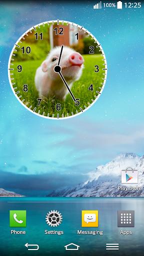 動物時鐘小工具