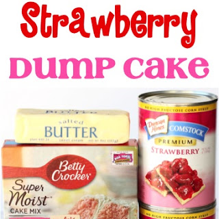 Crockpot Strawberry Dump Cake Recipe!.