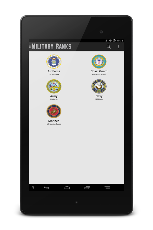 Military Ranks- screenshot