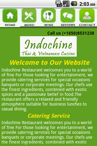 IndochinethaiRestaurant- screenshot