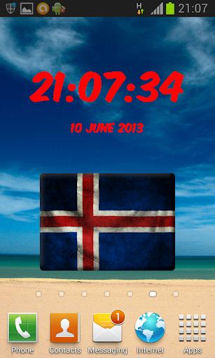Ísland Digital Clock