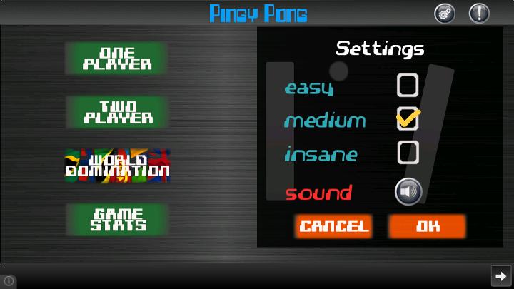 Pingy Pong (Ping Pong Classic) - screenshot