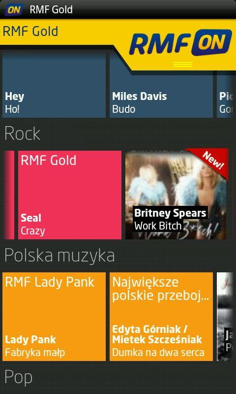 RMFon.pl (Internet radio)- screenshot
