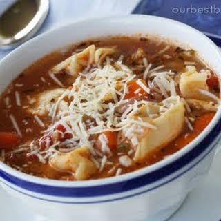Tortellini Sausage Soup.