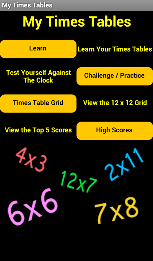 My Times Tables - Android Apps on Google Play