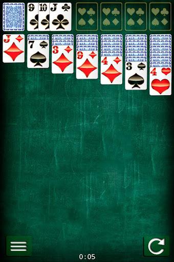耐心接龍紙牌遊戲