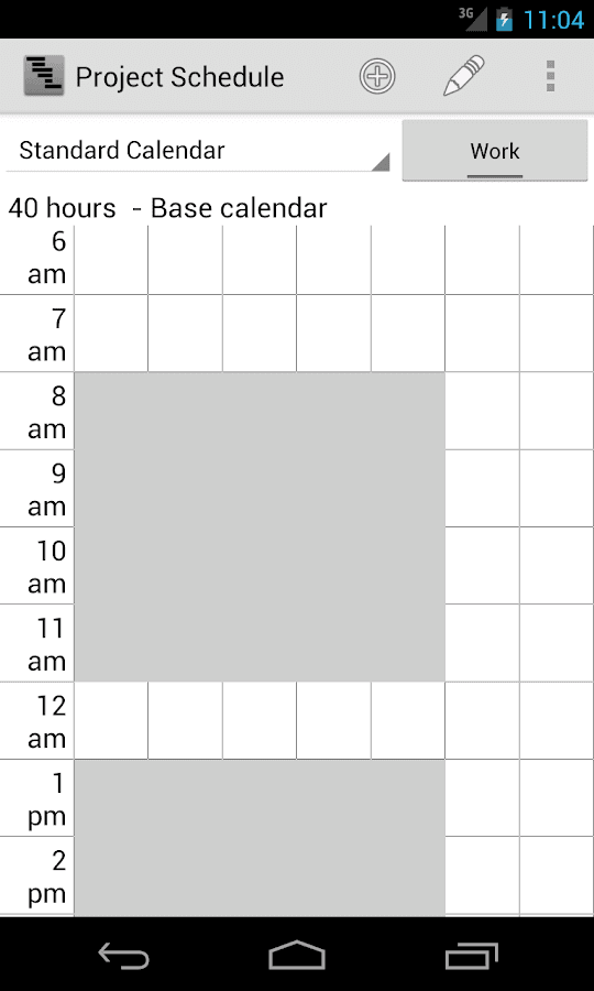 Project Schedule Free- screenshot