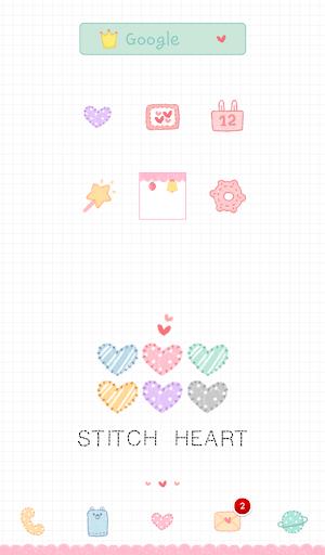 stich heart dodol theme