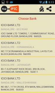 Find Bank IFSC Code India - screenshot thumbnail