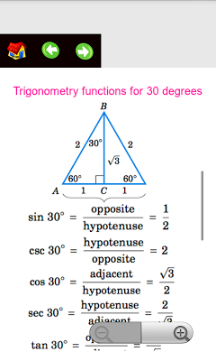 Algebra Trigonometry Formulas - screenshot