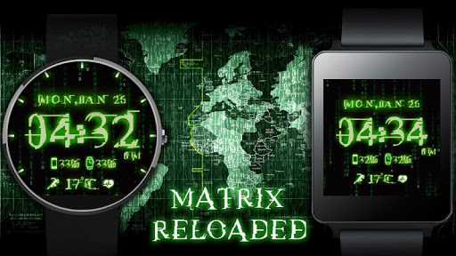 Matrix Reloaded HD Watch Face