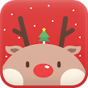 Red Rudolph Go launcher theme icon