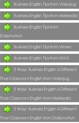 Business English Tips