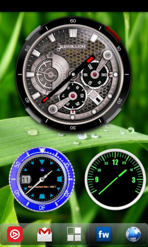 Analog Clock Widget Pack - screenshot
