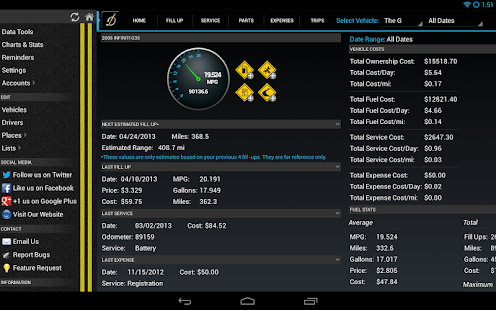 DriverDiary - Gas Mileage Screenshot 10