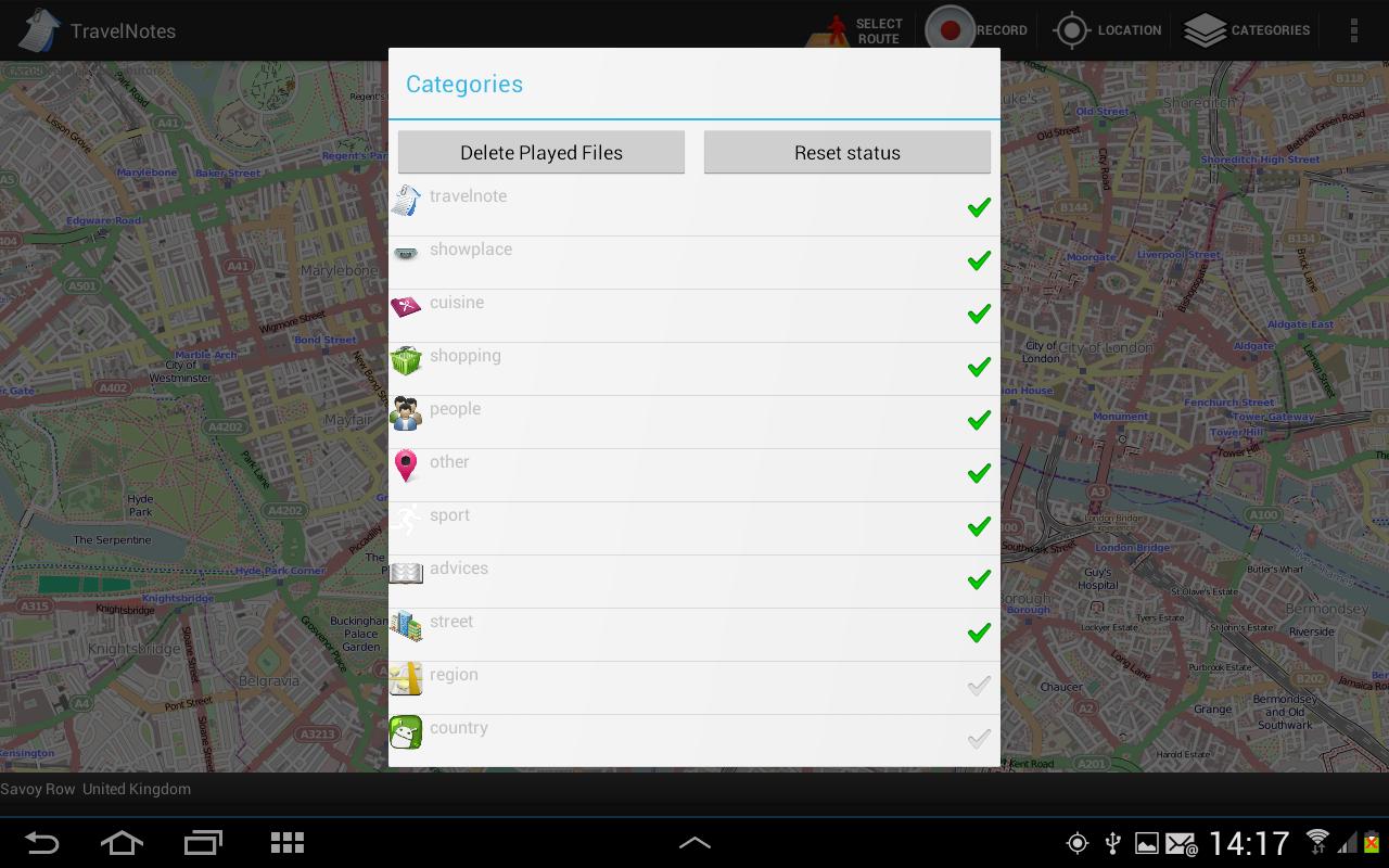 Travel Notes - screenshot