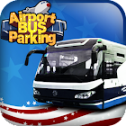3D airport bus parking icon