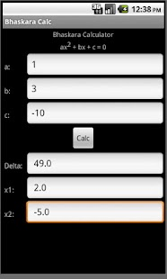 Bhaskara Calculator - screenshot thumbnail