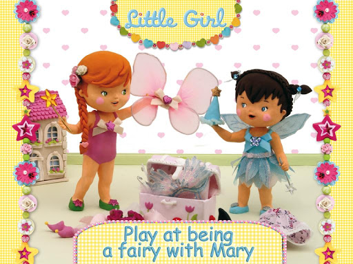Mary plays at being a fairy