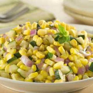 Golden Corn & Zucchini Saute.